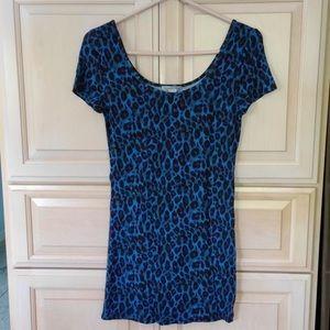 🆕 Charlotte Russe: Blue Leopard Top/Tunic